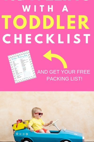 Traveling with a Toddler Checklist