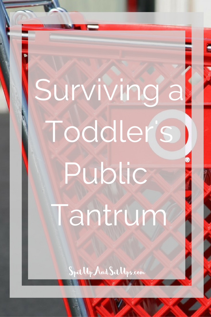 Surviving a toddler's public tantrum. Did my toddler realize I wanted to shop at Target and get some much needed retail therapy in? Of course. My toddler lost it in the cart throwing the biggest tantrum I have seen so far. Being a mom is hard enough.