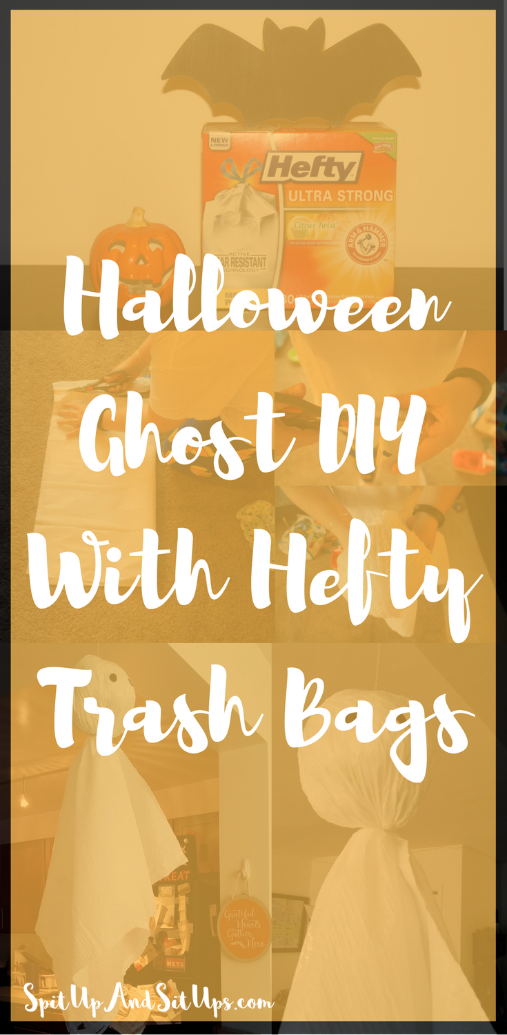 Halloween DIY, Halloween Trash Bag, DIY Halloween Decoration, Halloween Decoration, Hefty, DIY Hefty trash bag,