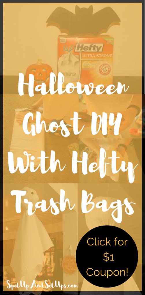 Halloween DIY, Halloween Trash Bag, DIY Halloween Decoration, Halloween Decoration, Hefty, DIY Hefty trash bag,