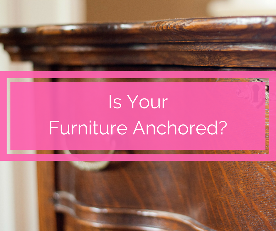 anchor your furniture, toddler saves brother trapped under dresser, child proofing, how to child proof, what do i need to child proof, tips on anchoring furniture to wall