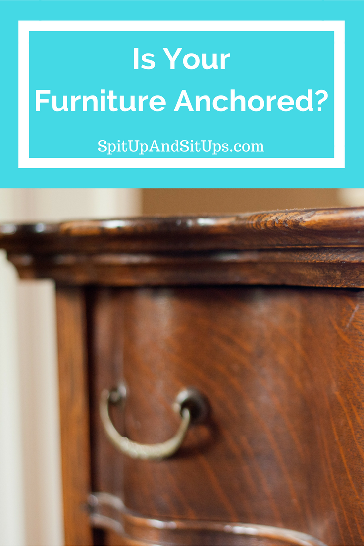 anchor your furniture, toddler saves brother trapped under dresser, child proofing, how to child proof, what do i need to child proof
