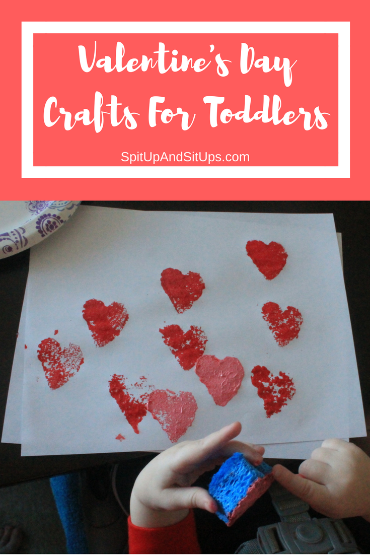 easy valentine's day crafts for toddlers - spit up and sit ups