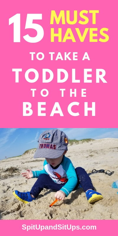 15 must haves to take a toddler to the beach