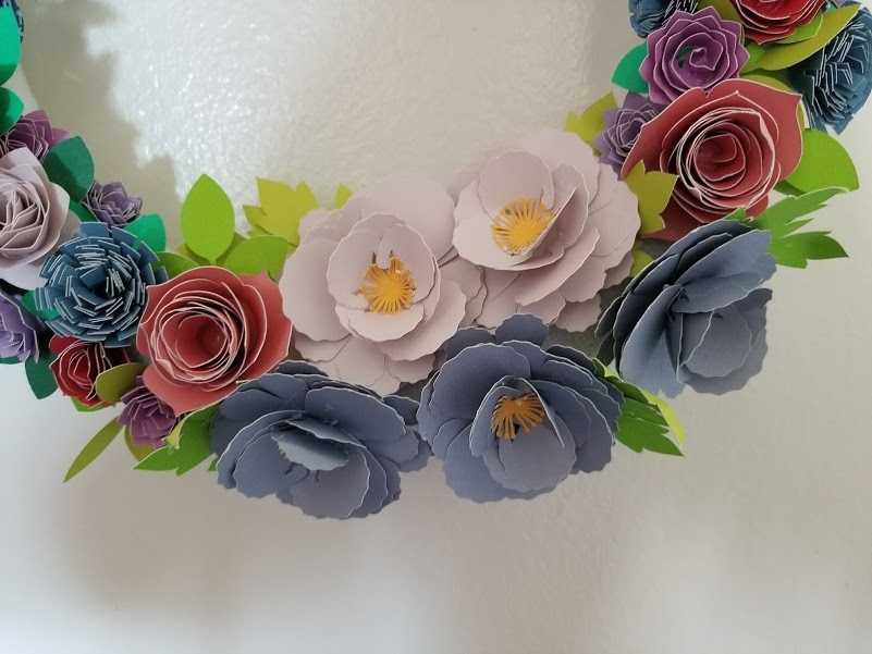 make paper flowers using cricut machine
