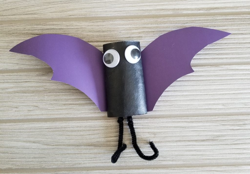 Halloween Spider and Bat Crafts for Kids - Toilet Paper Roll Bat | Spit Up and Sit Ups