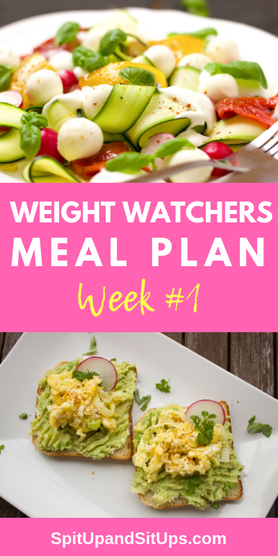 weight watchers meal plan