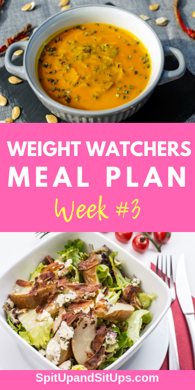 weight watchers meal plan week #3