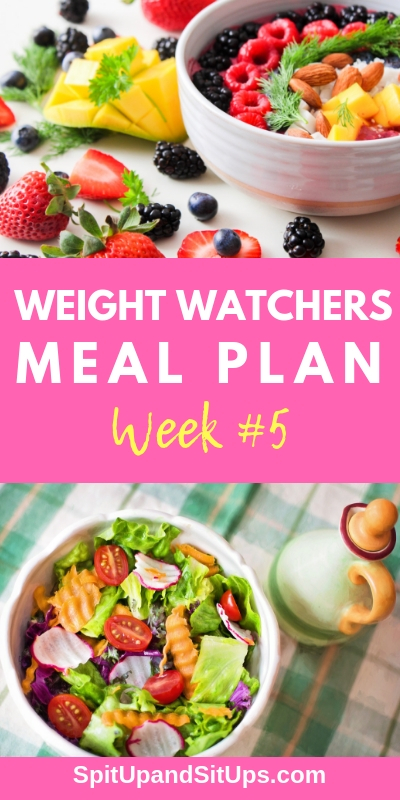 Weight Watchers Meal Plan Week 5 | Spit Up and Sit Ups
