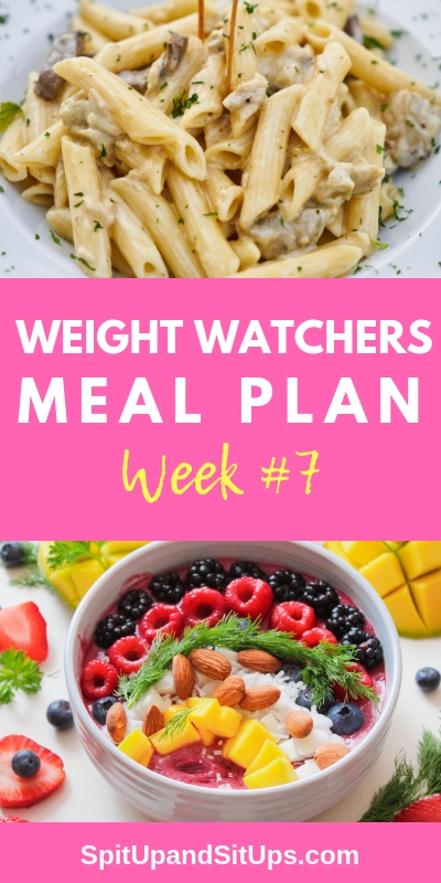 Weight Watchers WW Weekly Meal Plan #7