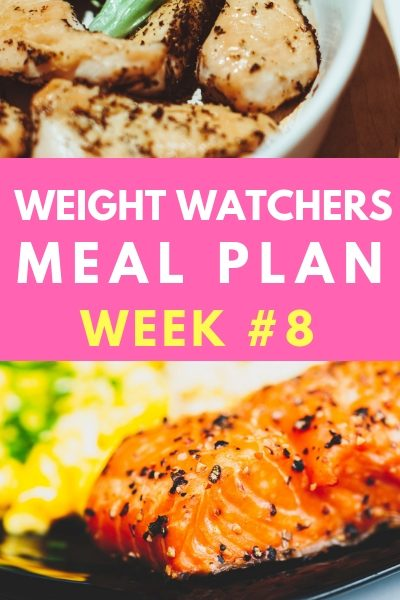 weight watchers weekly meal plan #8