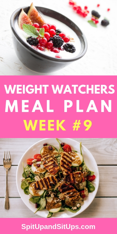 Weight Watchers Weekly Meal Plan #9