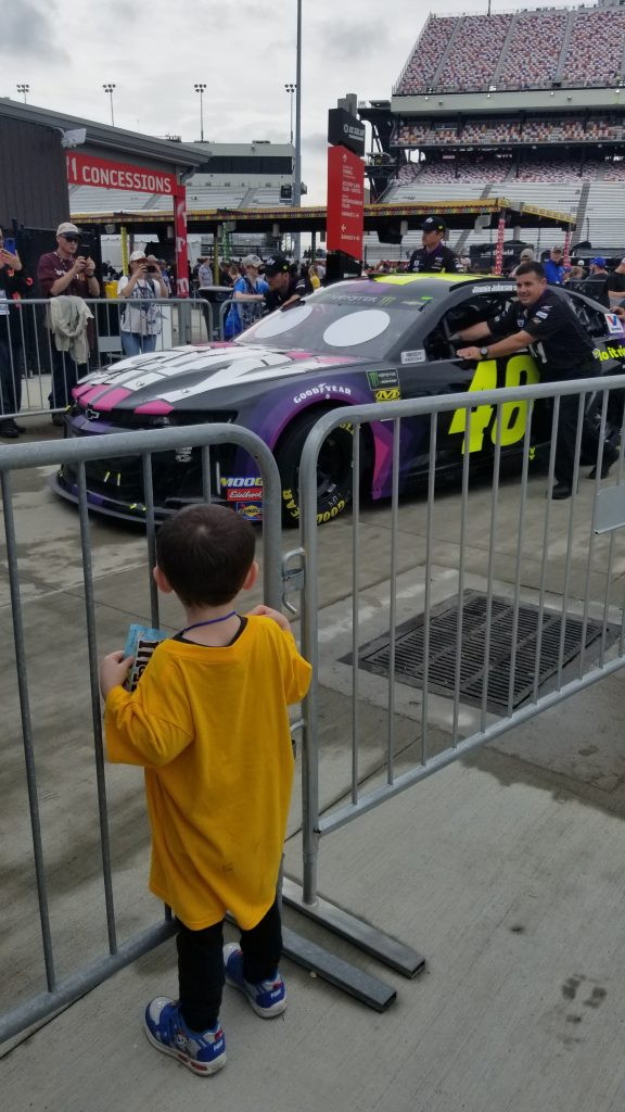 #48 Jimmie Johnson Taking Kids to a NASCAR Race