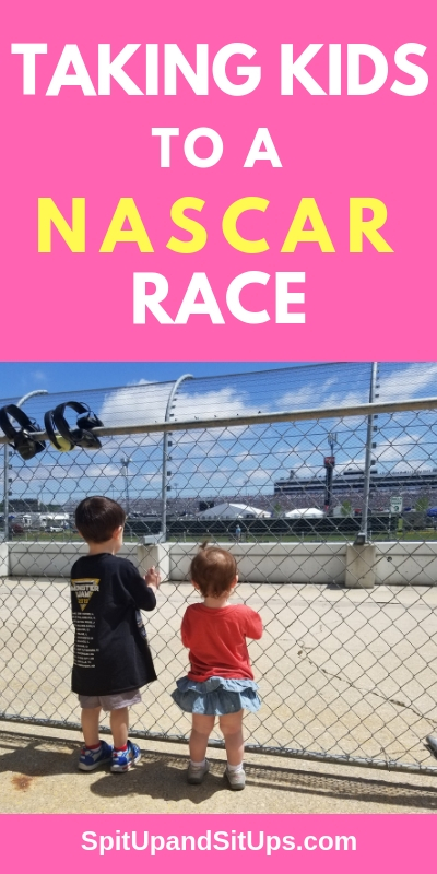 taking kids to a nascar race