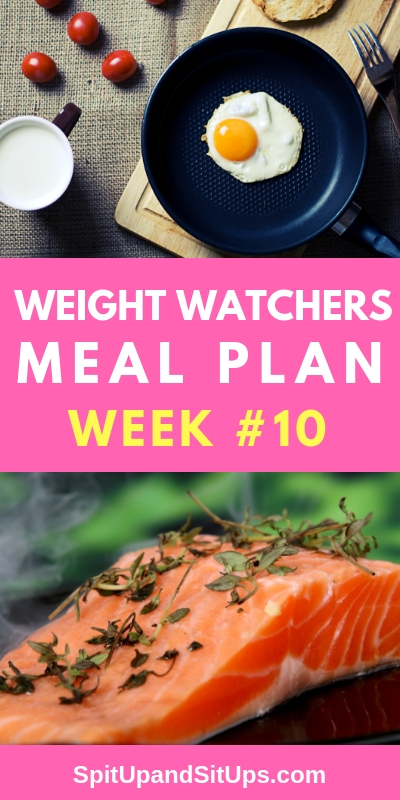 weight watchers weekly meal plan #10
