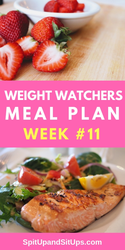 weight watchers weekly meal plan #11