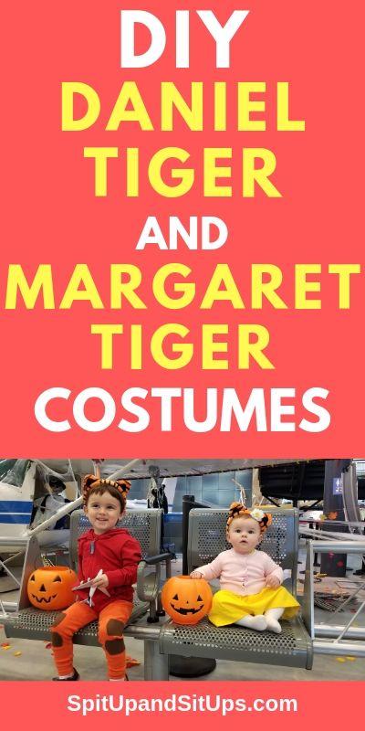 Diy Daniel Tiger And Margaret Tiger Costumes Spit Up And