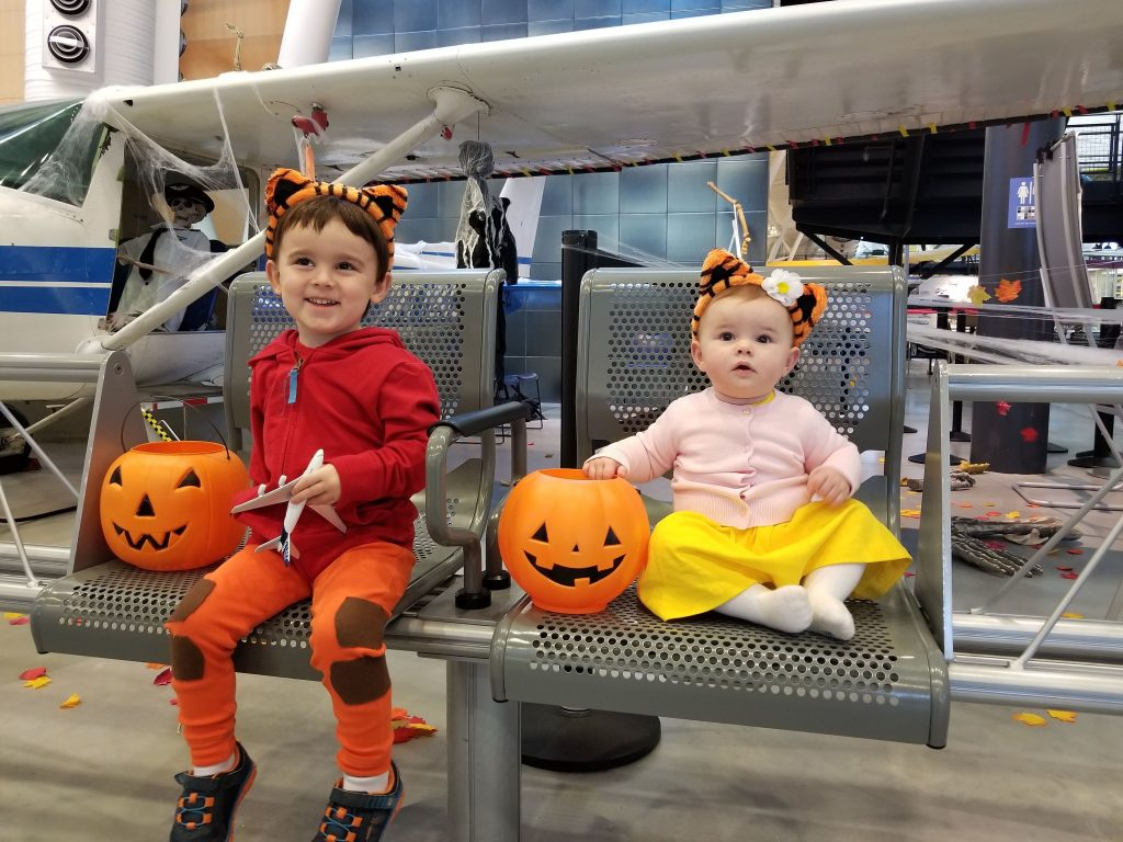 Daniel Tiger and Margaret Tiger costumes