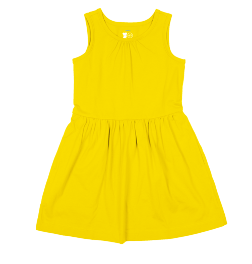 Primary Yellow Dress Sunshine
