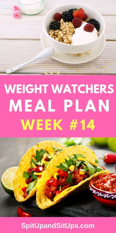 Weight Watchers Weekly Meal Plan #14