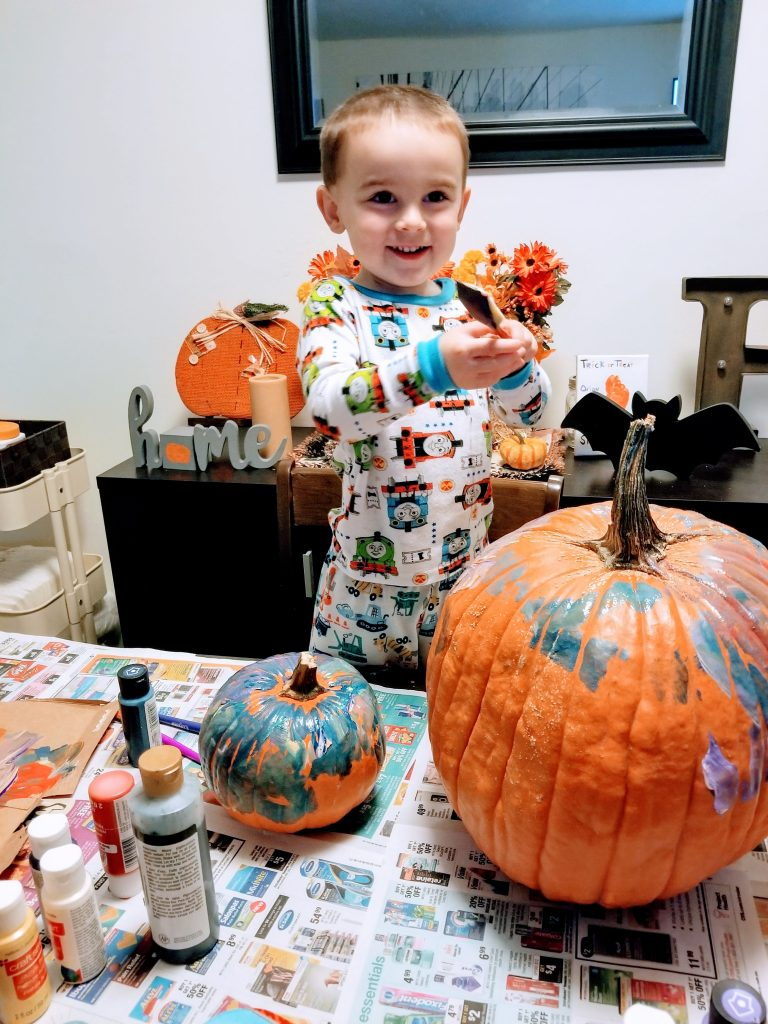 pumpkin painting budget friendly fall activities for families