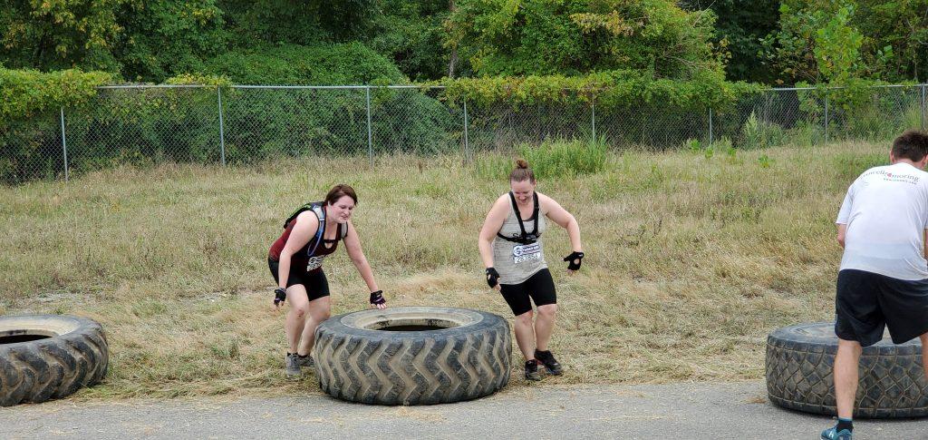 Terrain Race Tire Flip