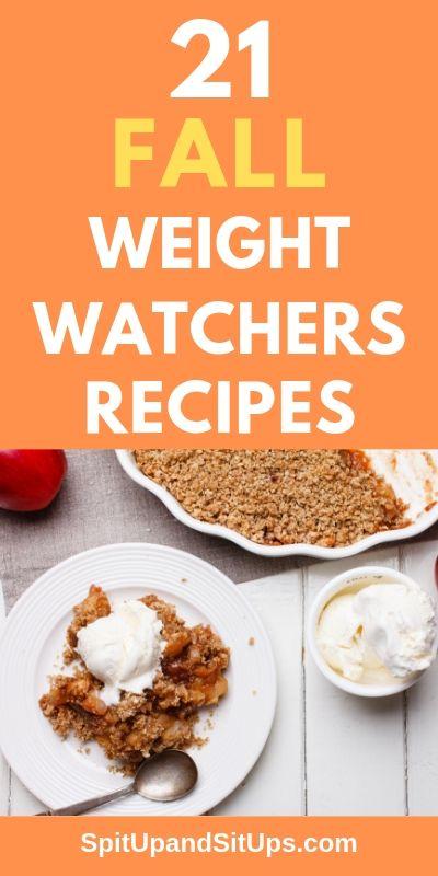 21 Fall Weight Watchers Recipes Pinterest Image