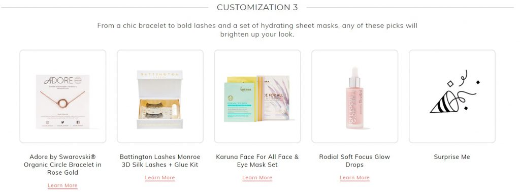 fabfitfun winter box 2019 customization 3