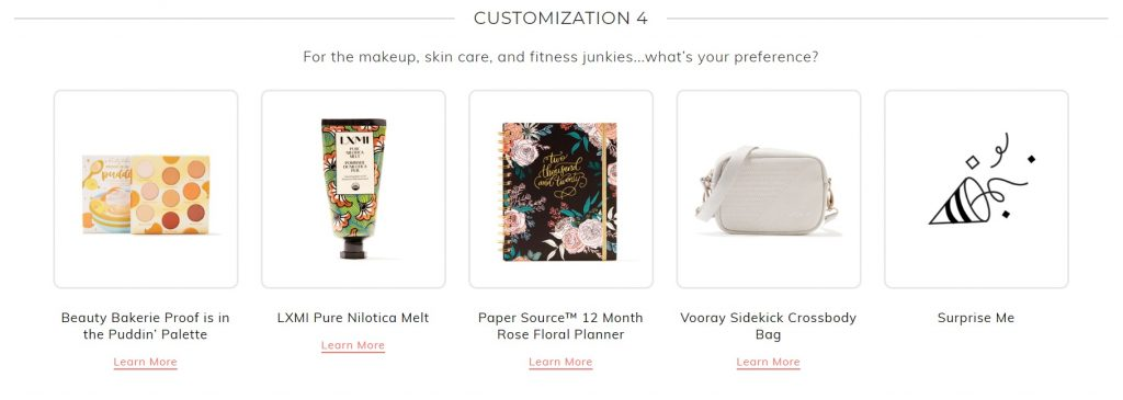 fabfitfun winter box 2019 customization 5