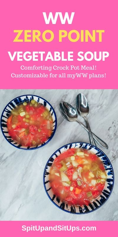 weight watchers crock pot vegetable soup hero image