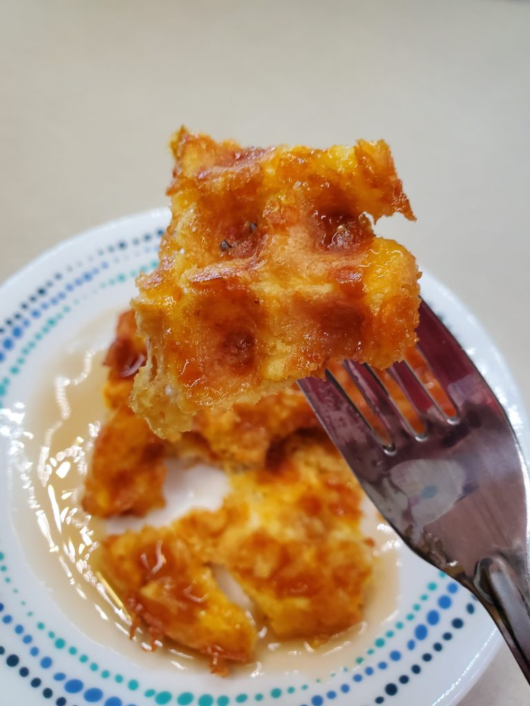 up close low carb chaffle