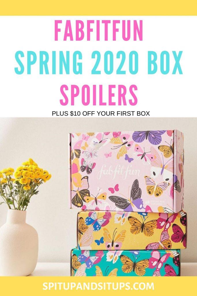 fabfitfun spring 2020 box spoilers plus discount code pinterest image