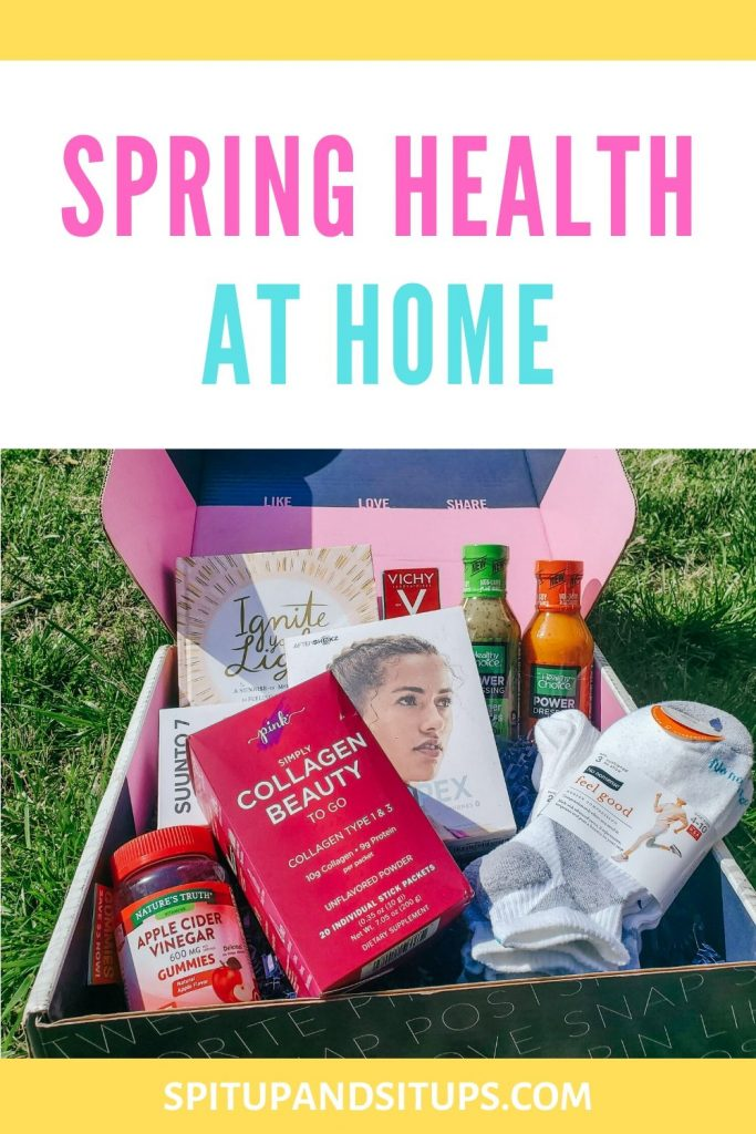 Spring Health at Home Babbleboxx Pinterest Image