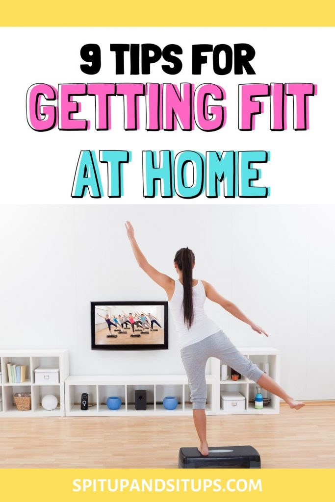 tips for getting fit at home pinterest image title image hero image