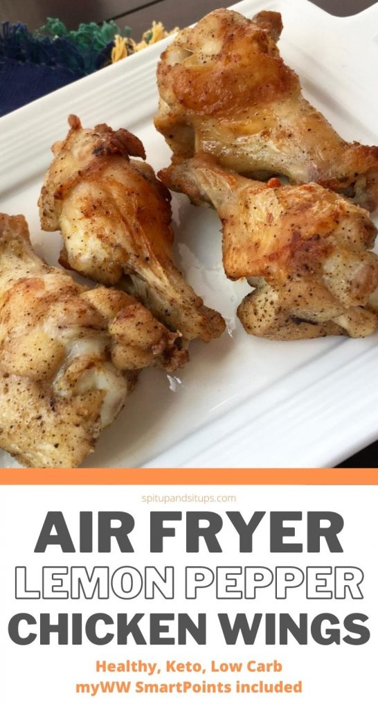 Air Fryer Lemon Pepper Chicken Wings Spit Up And Sit Ups