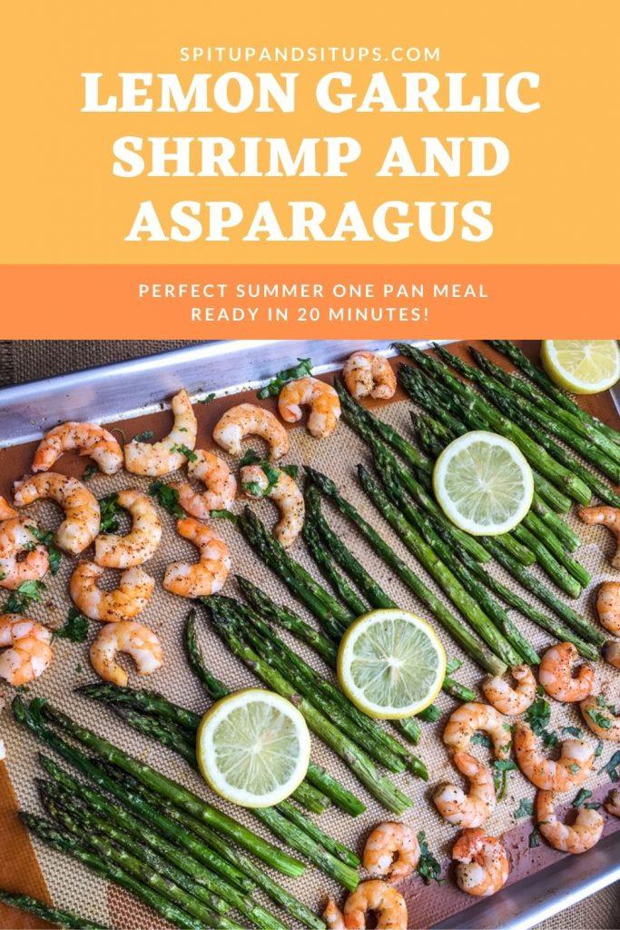 Lemon Garlic Shrimp and Asparagus Pinterest Image
